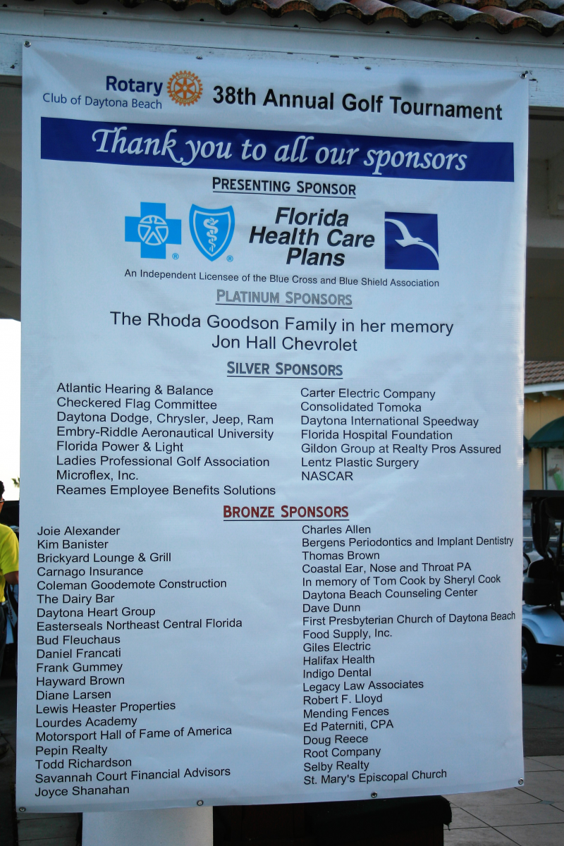 Thank you to all our sponsors.